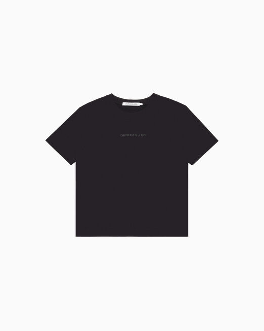 CALVIN KLEIN INSTITUTIONAL LOGO 박시 티셔츠