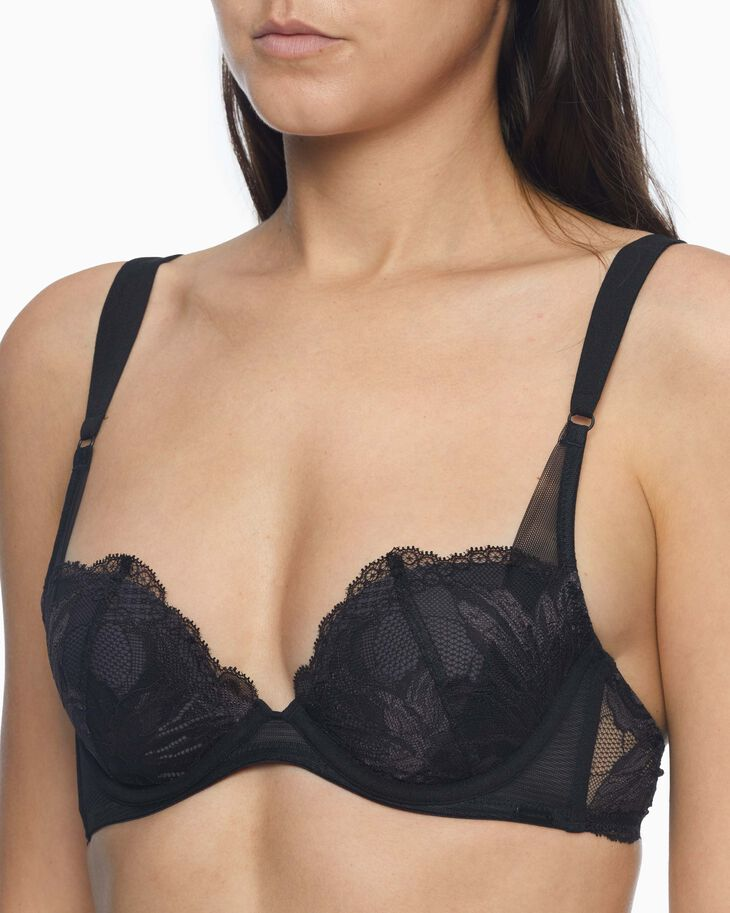 CALVIN KLEIN CK BLACK AMARYLIS LIGHTLY LINED PLUNGE BRA