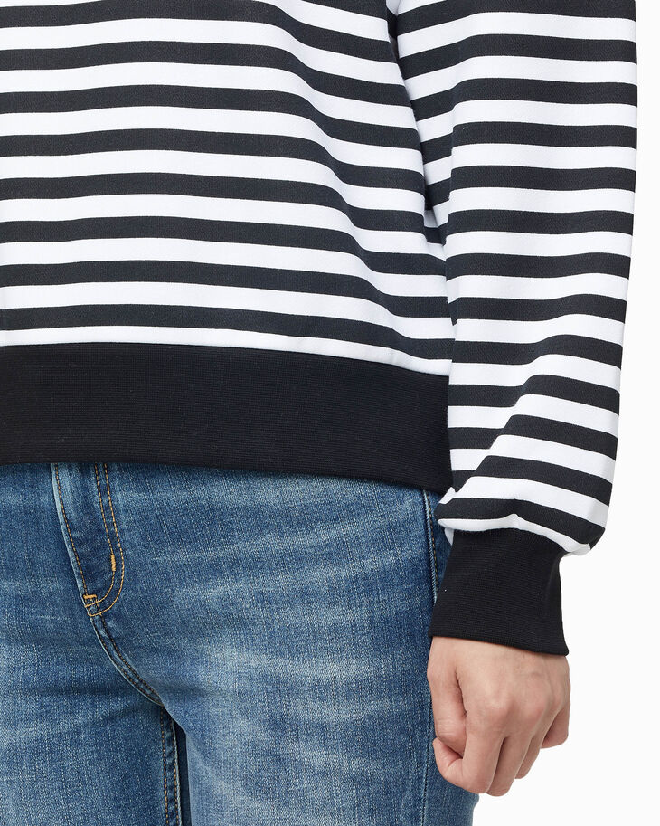 CALVIN KLEIN OVERSIZED STRIPE ROLL NECK SWEATSHIRT