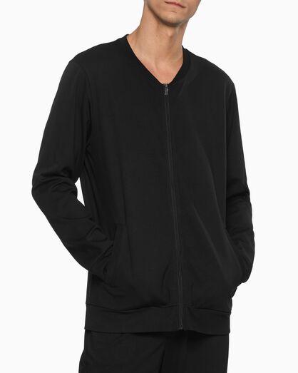 CALVIN KLEIN CK BLACK ラウンジ ジップアップ スウェットシャツ