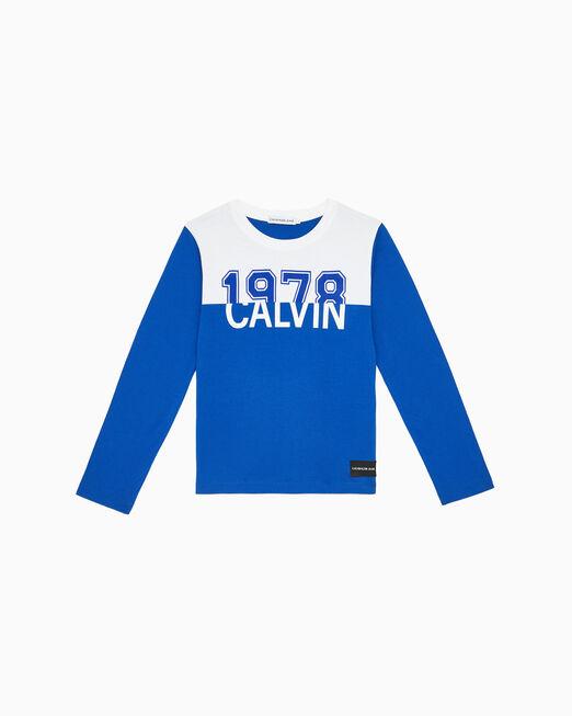 CALVIN KLEIN 남아용 1978 CALVIN 컬러 블록 티셔츠