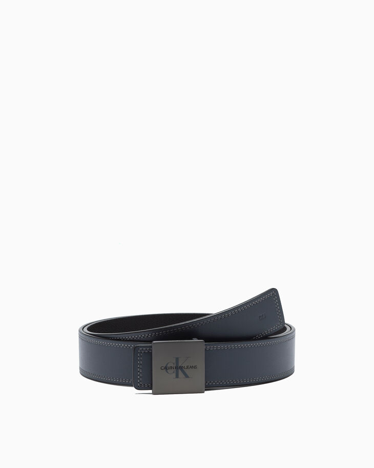 CALVIN KLEIN REVERSIBLE MONOGRAM PLAQUE BELT 38MM