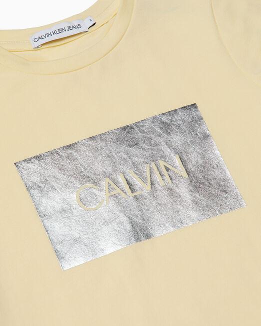CALVIN KLEIN 여아용 METAL FOIL LOGO 티셔츠