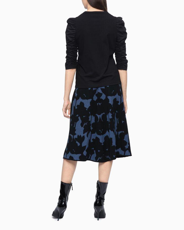 CALVIN KLEIN FLORAL PATTER 褶裙