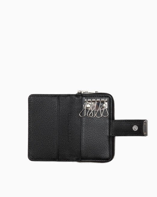 CALVIN KLEIN MICRO PEBBLE ZIP AROUND KEY AND CARD CASE