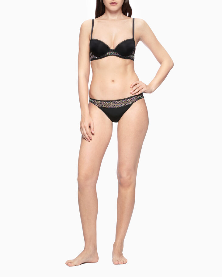 CALVIN KLEIN STRIPE LACE LIFT DEMI BRA