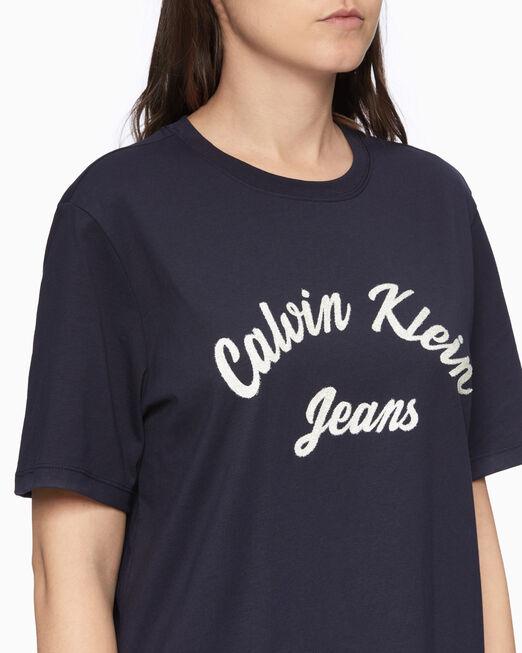 CALVIN KLEIN 비즈 로고 티셔츠