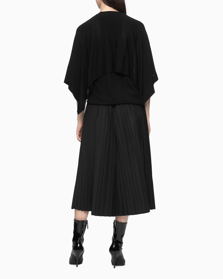 CALVIN KLEIN TWO-LAYER KNIT CAPE TOP