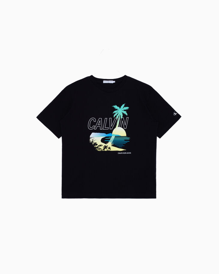 CALVIN KLEIN BOYS PALM GRAPHIC TEE