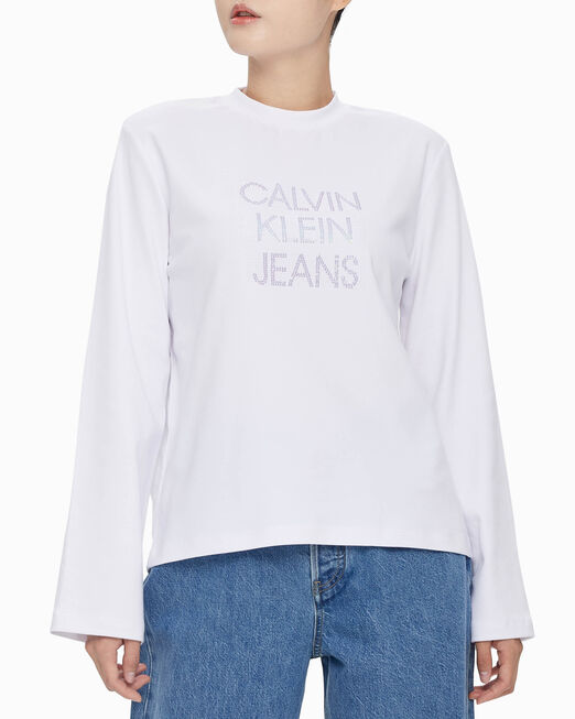CALVIN KLEIN INSTITUTIONAL SEQUIN LOGO TEE