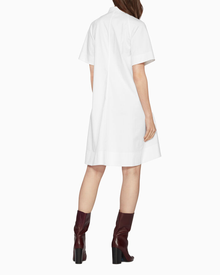 CALVIN KLEIN TWILL SHIRT DRESS