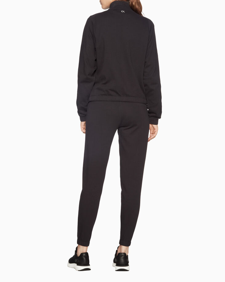 CALVIN KLEIN SPACE LINE SHORT SWEAT JACKET WITH LONG DRAWSTRING