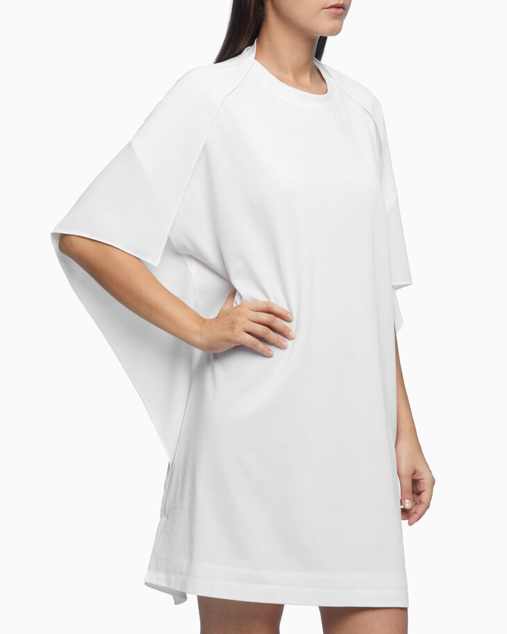CALVIN KLEIN DOUBLE LAYER DRAPE T-SHIRT DRESS