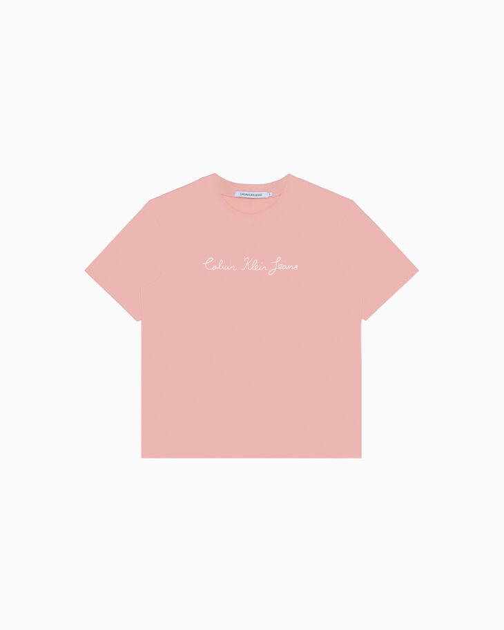 CALVIN KLEIN INSTITUTIONAL CHAIN STITCH LOGO TEE