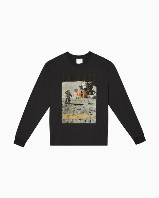 CALVIN KLEIN MOON LANDINGS 크루넥 그래픽 롱 슬리브 티셔츠