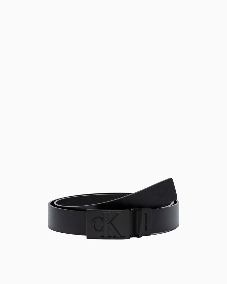 CALVIN KLEIN MONOGRAM PLAQUE BELT 35MM