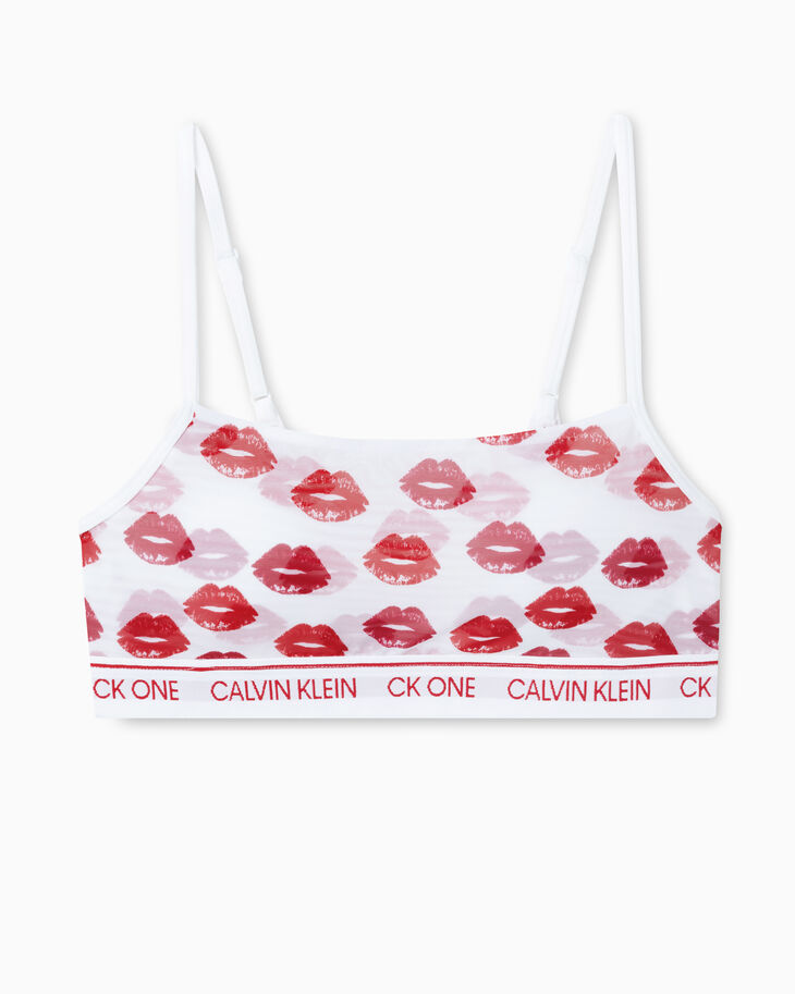CALVIN KLEIN CK ONE LAYERED LIPS LIGHTLY LINED BRALETTE