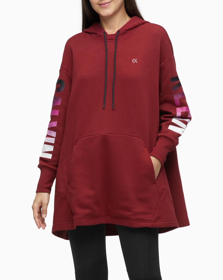 CALVIN KLEIN SUSTAINABLE GRADIENT LOGO OVERSIZED HOODIE