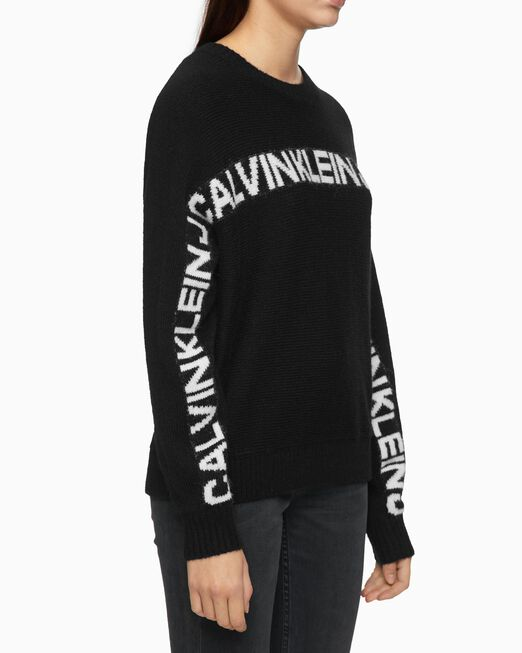 CALVIN KLEIN RELAXED FIT LOGO SWEATER