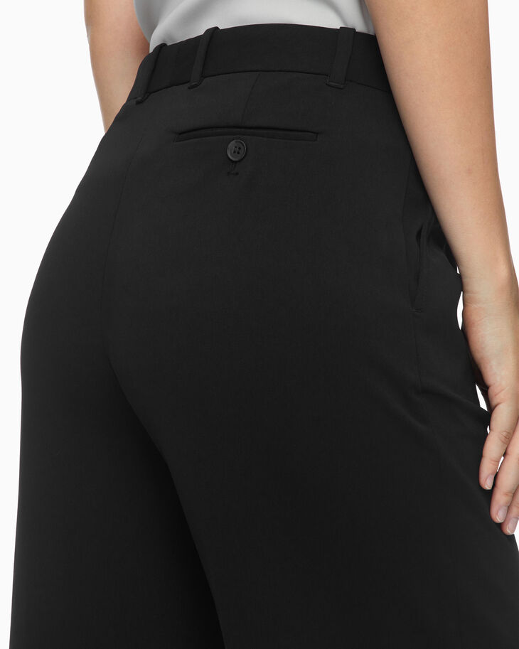 CALVIN KLEIN CROPPED FLARED DRESS PANTS
