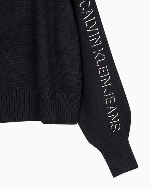 CALVIN KLEIN 여성 퍼프 슬리브 스웨터