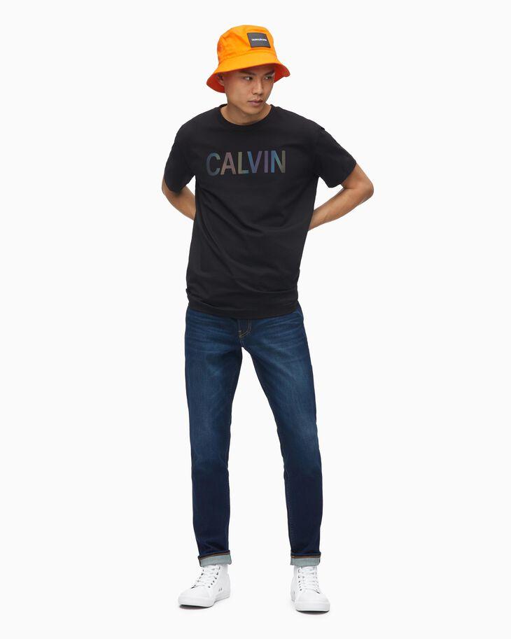CALVIN KLEIN IRIDESCENT LOGO SLIM TEE
