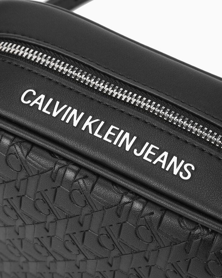 CALVIN KLEIN CKJ SCULPTED ALL OVER PRINT CAMERA BAG