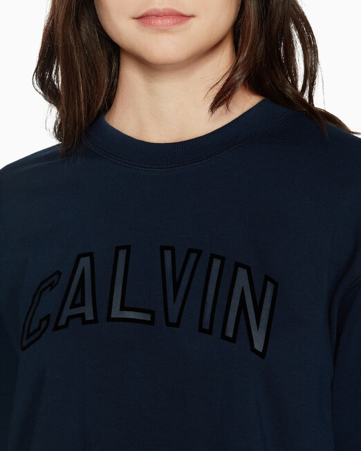 CALVIN KLEIN VARSITY CROPPED 스웨트셔츠