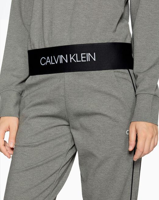 CALVIN KLEIN ACTIVE ICON 로고 크롭 스웨트셔츠