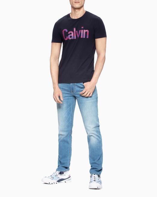 CALVIN KLEIN 남성 슬림핏 캘빈 반팔 티셔츠