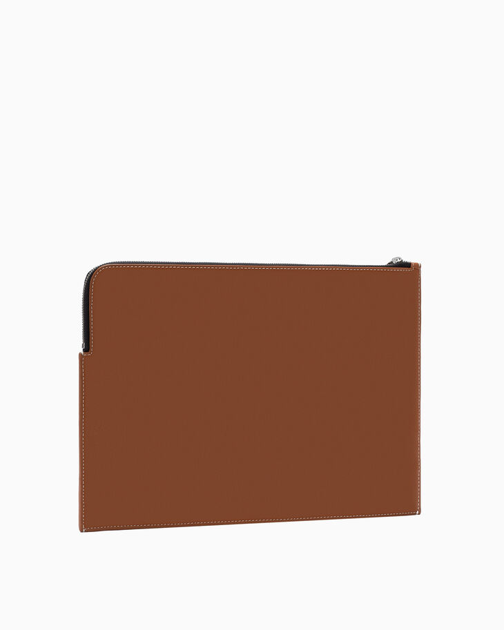 CALVIN KLEIN LARGE LEATHER TRAVEL POUCH
