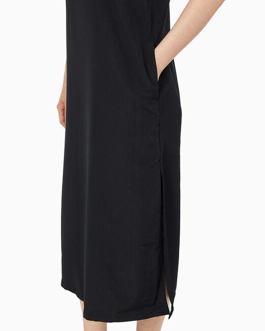 CALVIN KLEIN 여성 로고 테이프 맥시 탱크 드레스