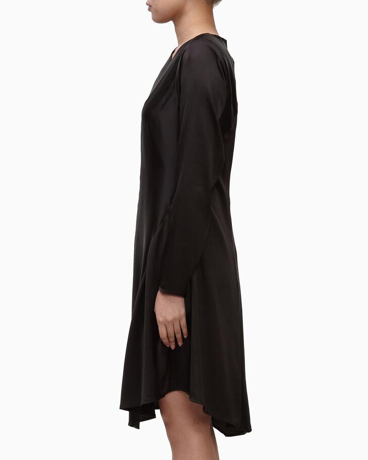 CALVIN KLEIN LIGHTWEIGHT CHARMEUSE DRESS