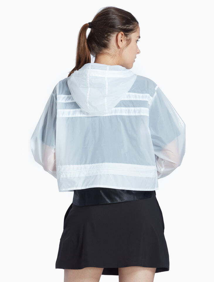 CALVIN KLEIN TRANSPARENT HOODED WINDBREAKER