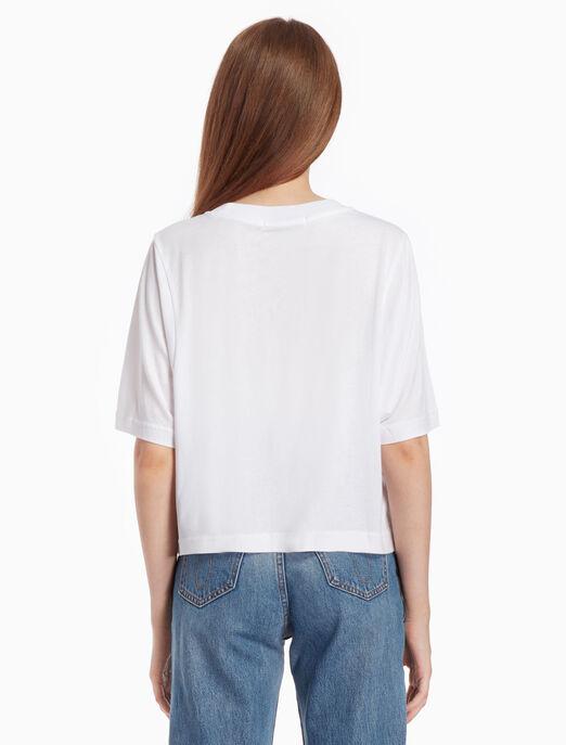 CALVIN KLEIN LOGO BATWING 티셔츠