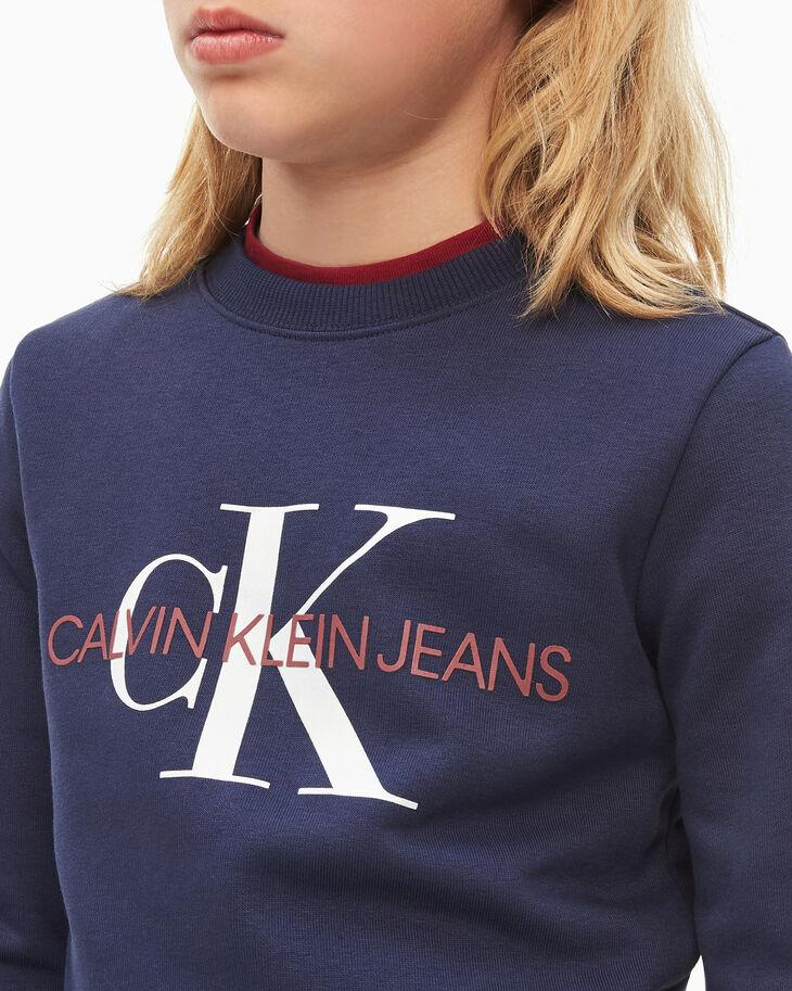 CALVIN KLEIN BOYS' MONOGRAM SWEATSHIRT
