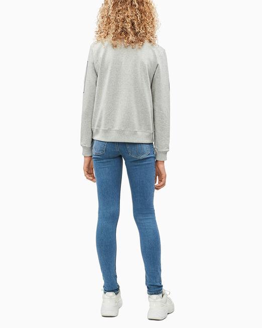CALVIN KLEIN 여아용 FOIL LOGO BOXY 스웨트셔츠