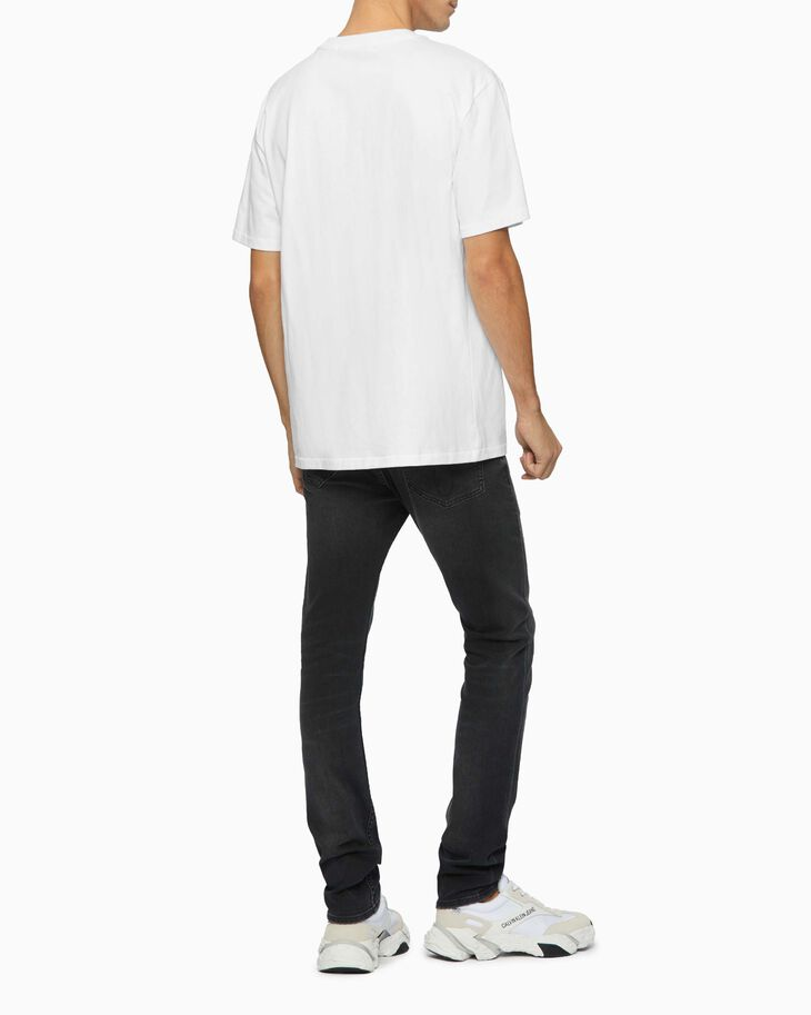 CALVIN KLEIN ABSTRACT PRINT LOGO TEE