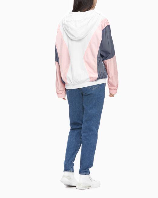 CALVIN KLEIN 여성 컬러 블로킹 윈드브레이커 재킷