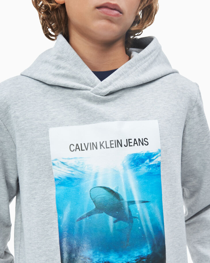CALVIN KLEIN 男孩 PHOTO PRINT 連帽上衣