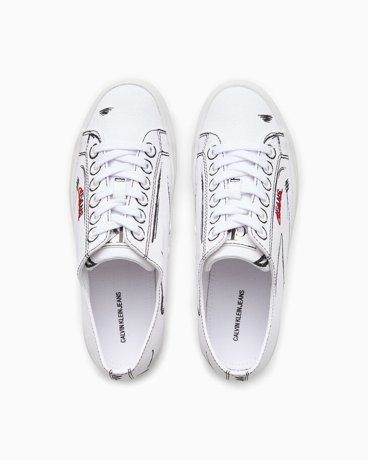 CALVIN KLEIN PAINT STROKE LOW TOP SNEAKERS