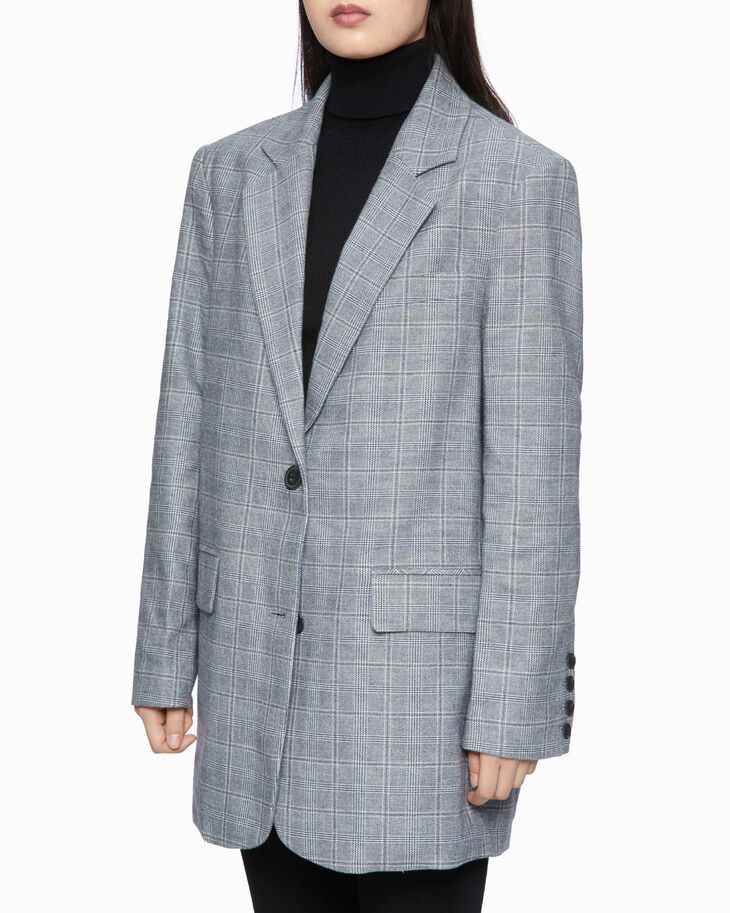 CALVIN KLEIN OVERSIZED COTTON WOOL BLAZER