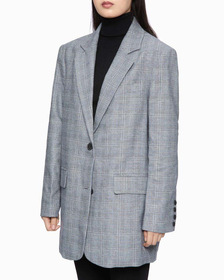 CALVIN KLEIN OVERSIZED COTTON WOOL 西裝外套