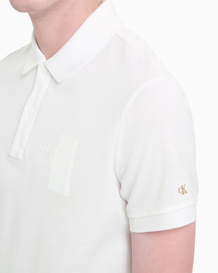 CALVIN KLEIN HYBRID+ LOGO GRAPHIC POLO SHIRT