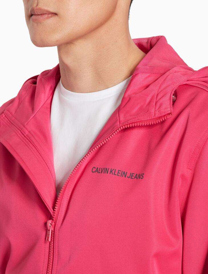 CALVIN KLEIN NYLON フード付きジップジャケット