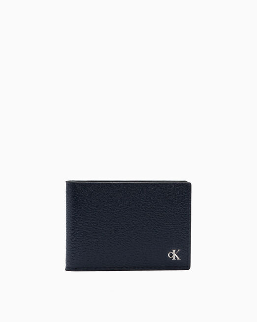 CALVIN KLEIN MONOGRAM TEXTURE WALLET WITH CARD CASE