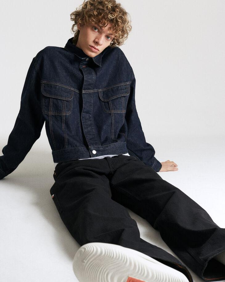 CALVIN KLEIN GARMENT-DYED CANVAS RELAXED LEG CARPENTER 牛仔褲