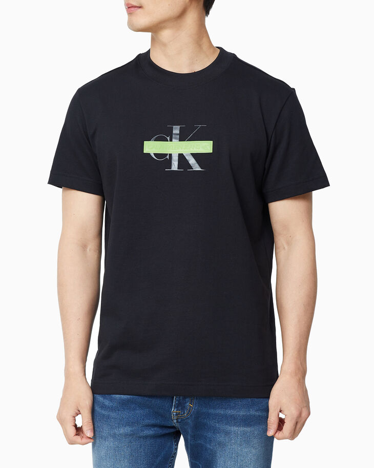 CALVIN KLEIN CENSORED MONOGRAM SHORT SLEEVE TEE