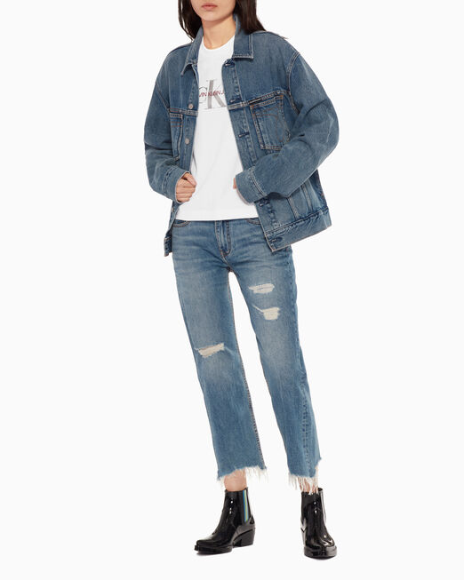 CALVIN KLEIN ICONIC POCKET STITCH TRUCKER JACKET