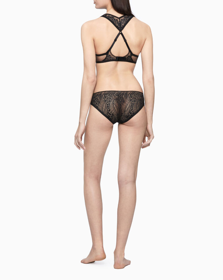 CALVIN KLEIN CK BLACK WAVE LACE 輕盈內襯無鋼圈內衣
